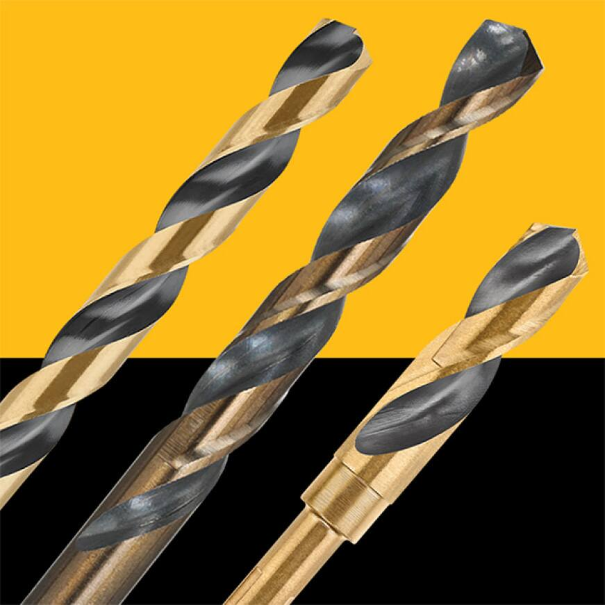 203317288 DW1132  G 1/2 in. Black and Gold Split Point Drill Black & Gold Drill-Rated Bits