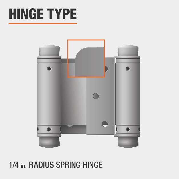 1/4 inch Radius Spring Hinge Type