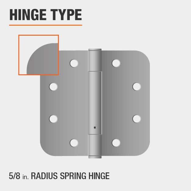 5/8 inch Radius Spring Hinge Type