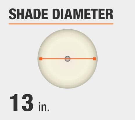 Shade Diameter: 13.00 in.