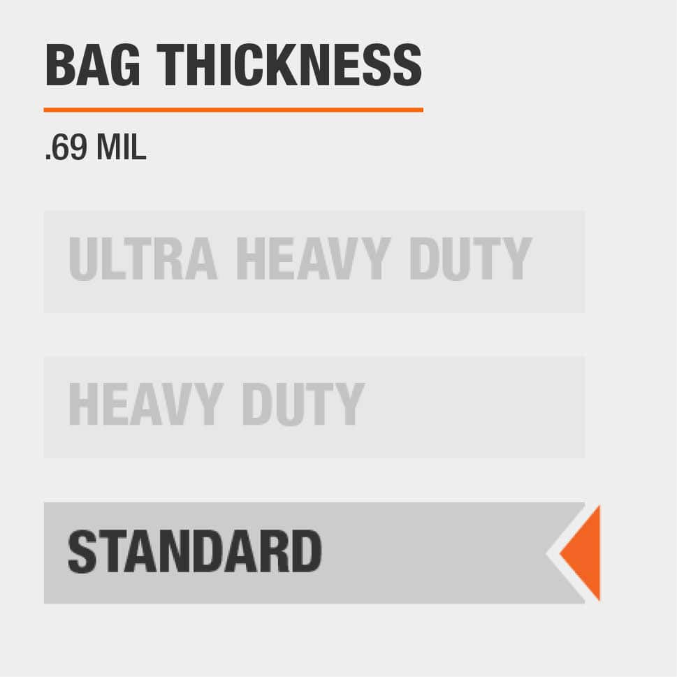 The thickness for this Trash Bag is Standard