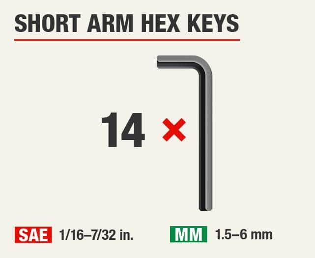 Short Arm Hex Keys