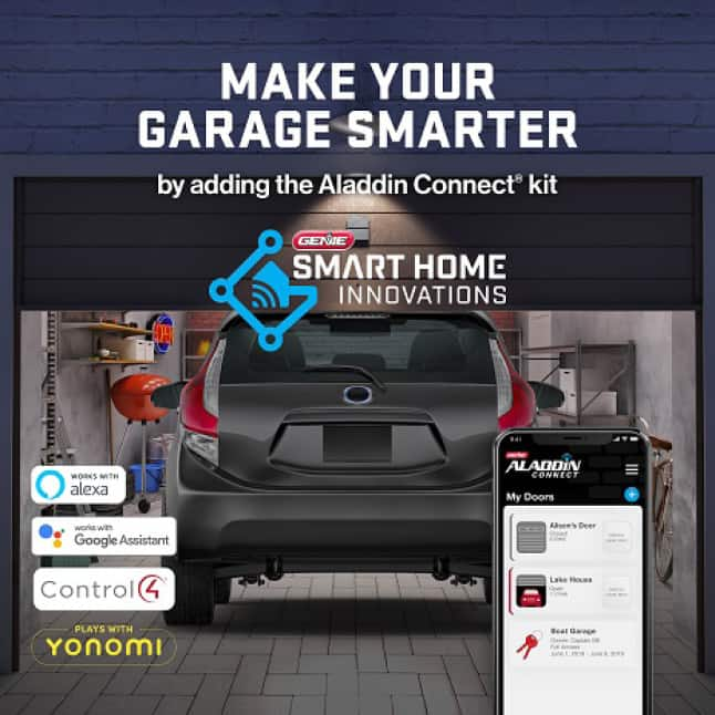 Genie ChainMax1000 - Garage Door Opener can be upgraded with Aladdin Connect