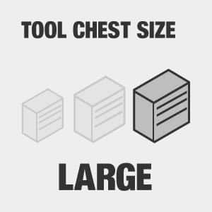 Large tool chest size.