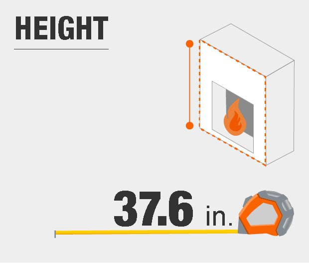 Product dimensions, height.