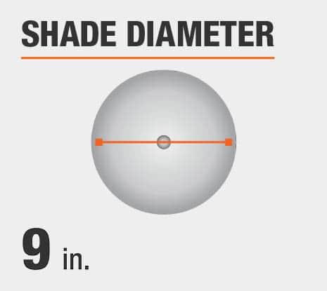 Shade Diameter: 9 in.
