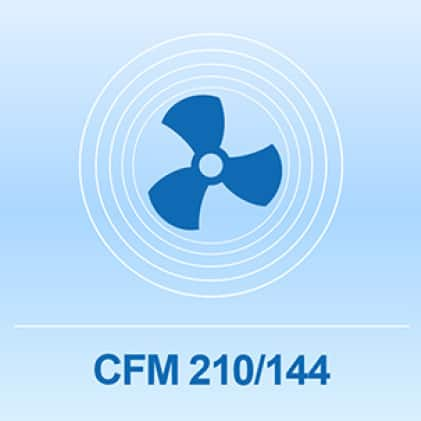 Multi-speed tower fan up to 210 CFM