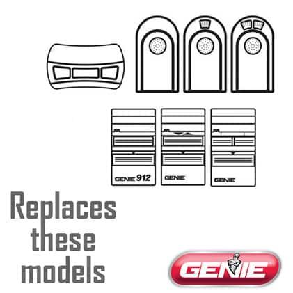 Genie master garage door opener remote replacement for ACSCTG