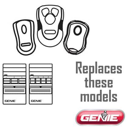 Genie master garage door opener remote replaces GT912