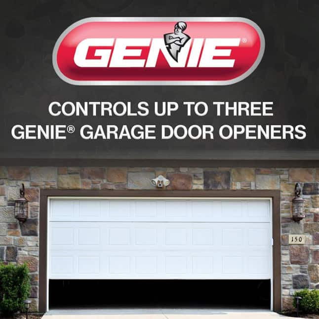 Genie master garage door opener remote three doors