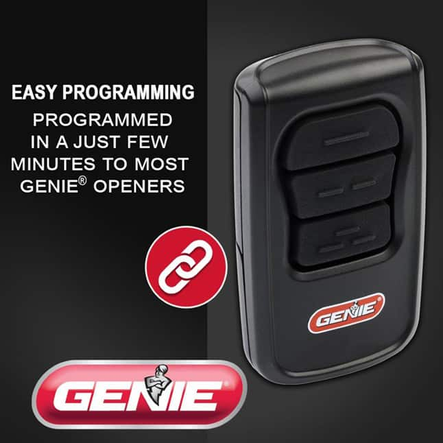 Genie master garage door opener remote easy to program