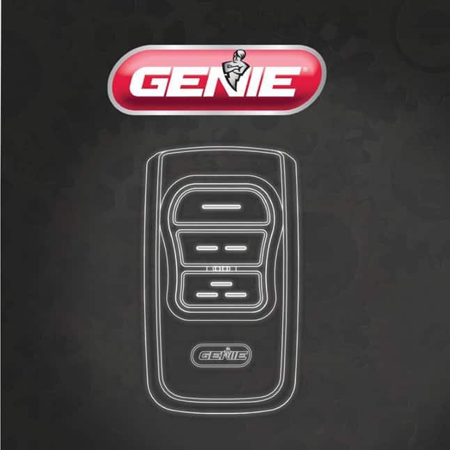 Genie master garage door opener remote large button