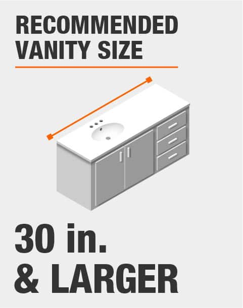 Recommended Vanity Size 30 Inches and Larger