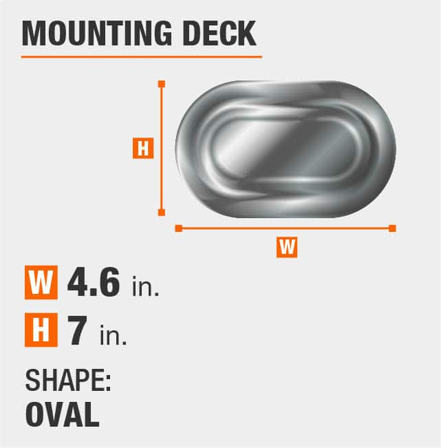 Oval Mounting Deck