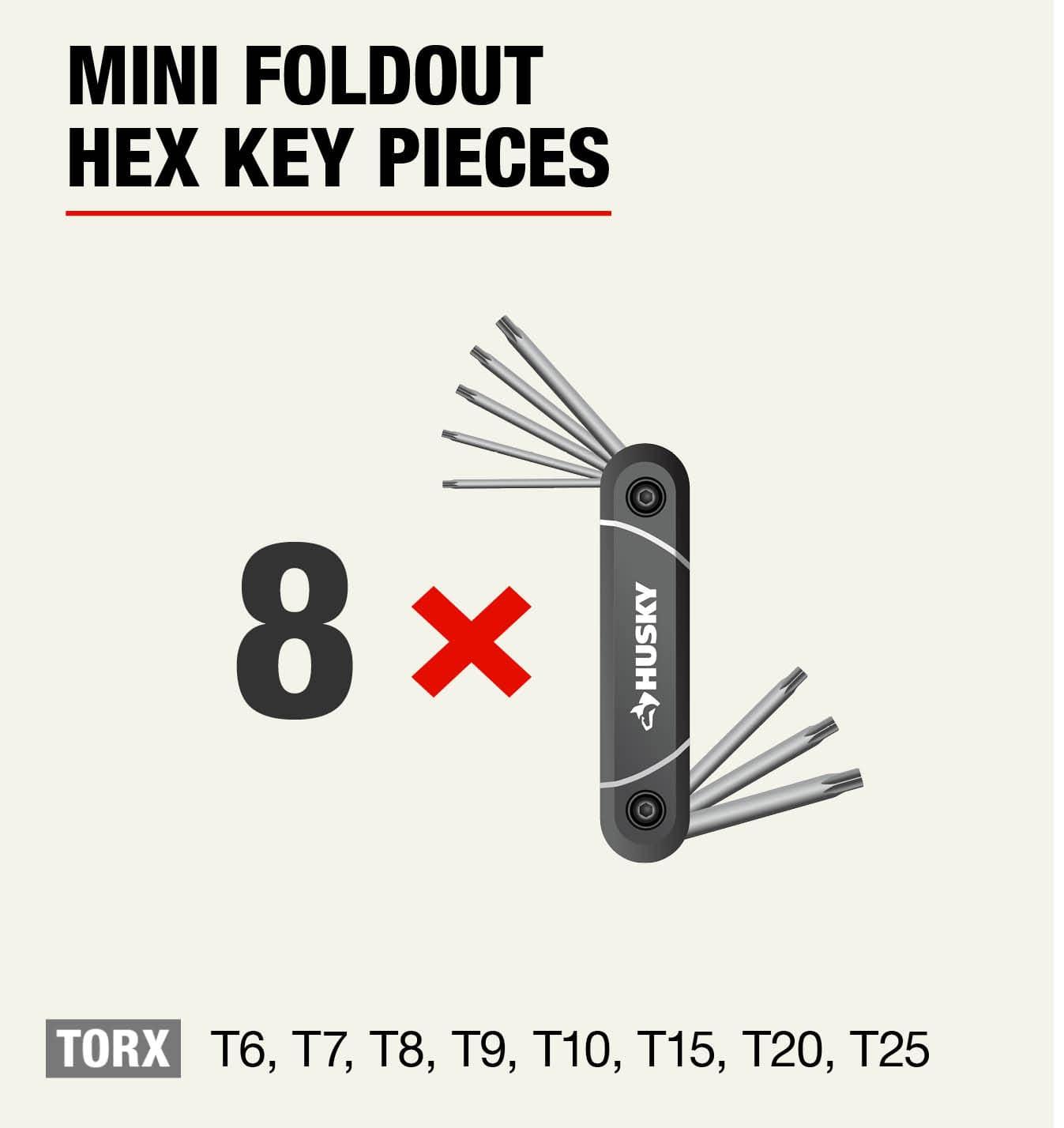 Husky Torx Mini Foldout Hex Keys