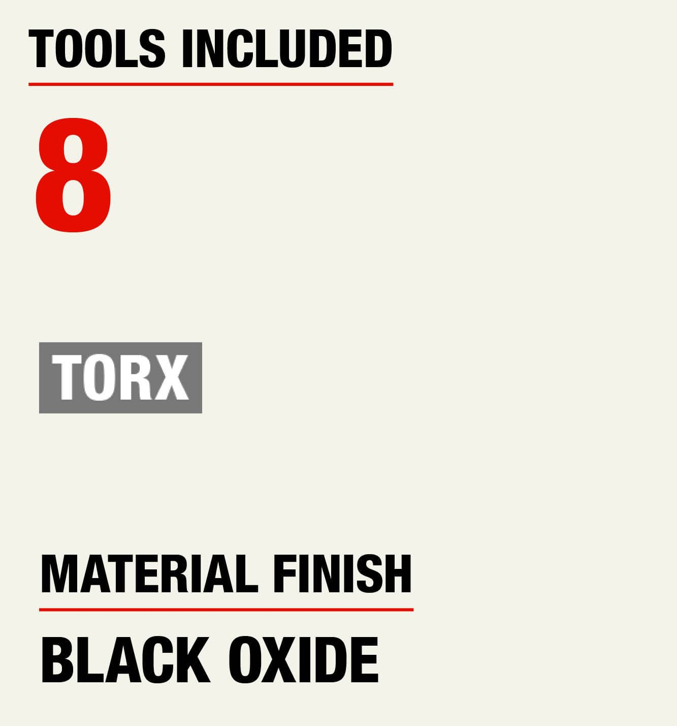 Tools Included