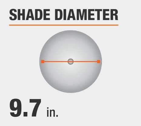 Shade Diameter: 9.70 in.