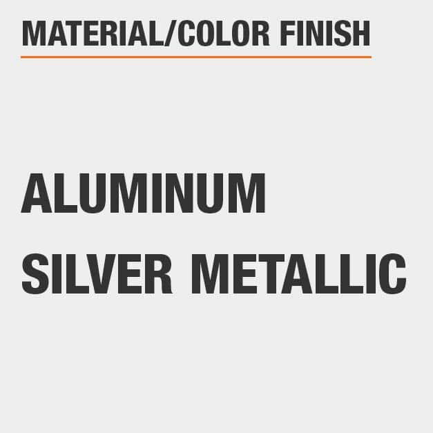 Material Aluminum Color Finish Silver Metallic