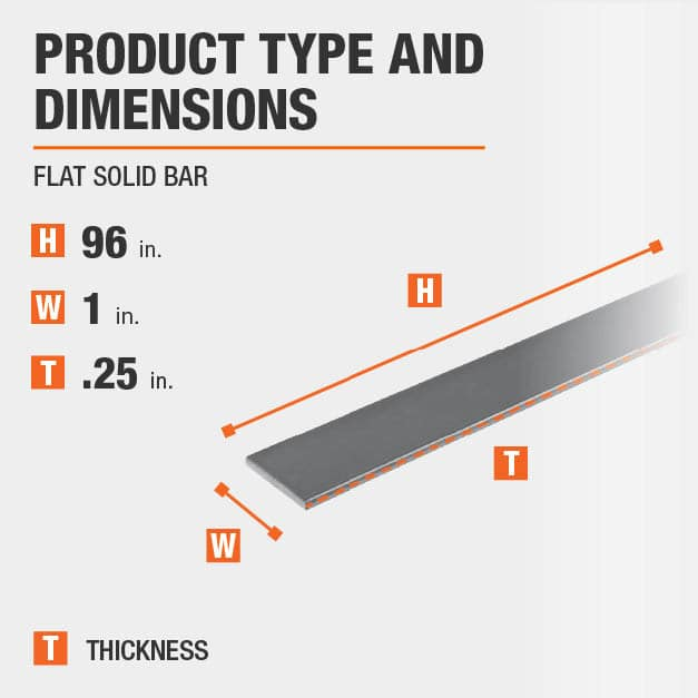 96 in. x 1 in. x 1/4 in. Aluminum Flat Bar