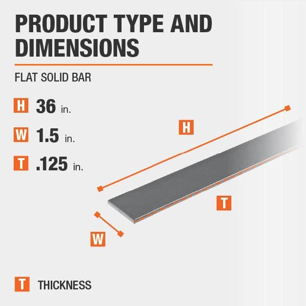 """1.1//2/"""" x 1//2/"""" x 1495mm Long Aluminium Flat Bar"""