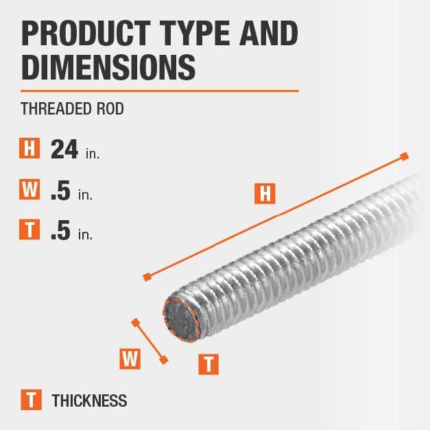 Low-Strength Steel Threaded Rod 2 Feet Long 2-4-1//2 Thread Size All America Threaded Products 01242 2-4-1//2 Thread Size
