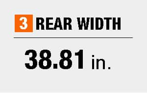 Rear width dimensions