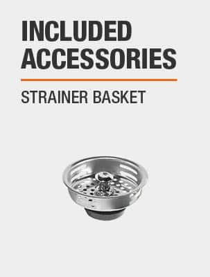 Sink Includes Strainer Basket
