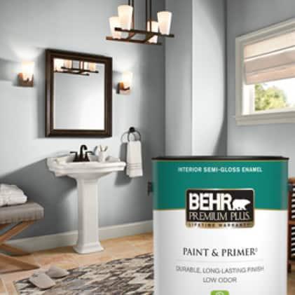 BEHR PREMIUM PLUS Interior Semi-Gloss can