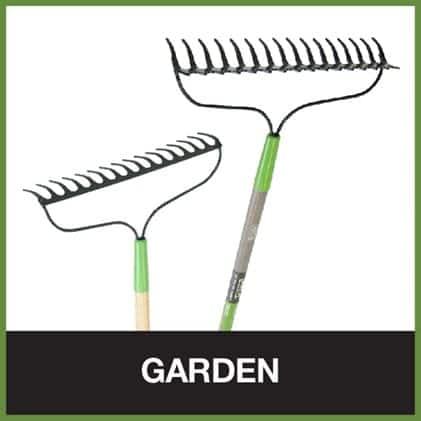 Bow rakes for breaking up hard soil