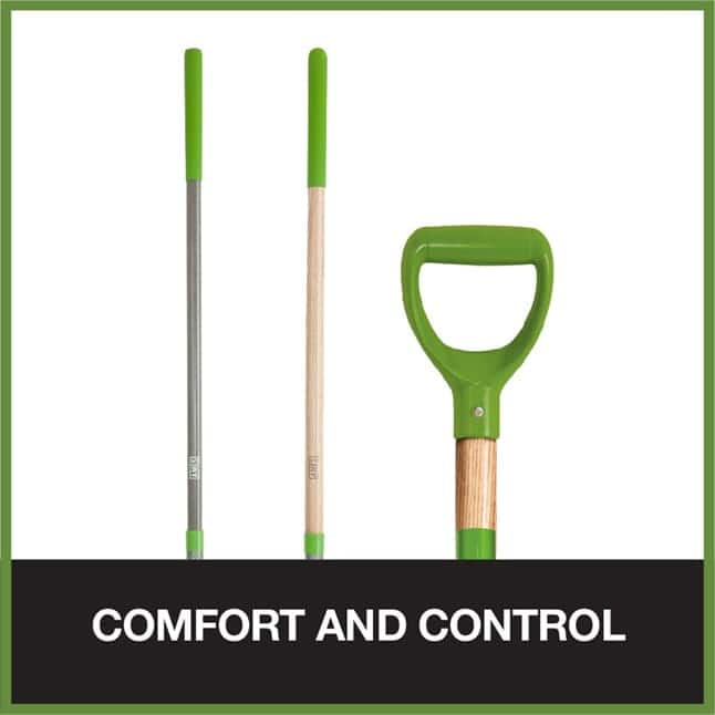 Handles and grips offer comfort and control
