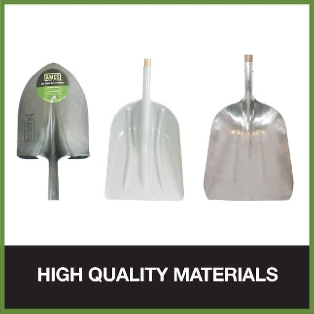 Durable shovel blades