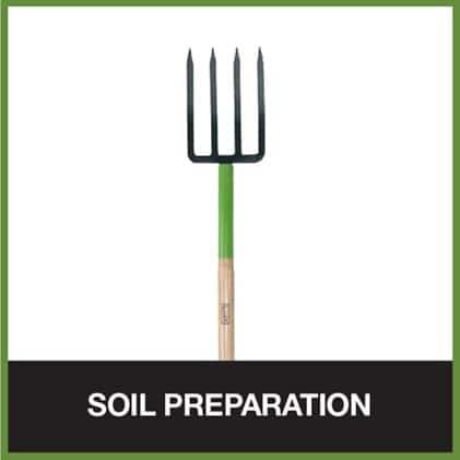 Spading forks are good for soil preparation