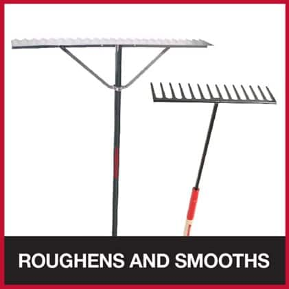 Contractor lute and asphalt rake for roughening and smoothing asphalt surfaces