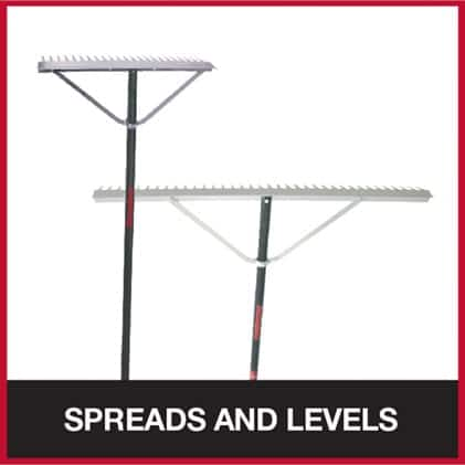 Landscape rake for spreading and leveling