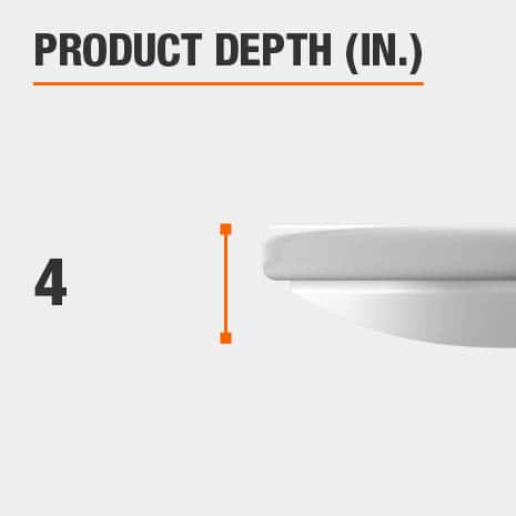 This light fixture has a depth of 4 inches.
