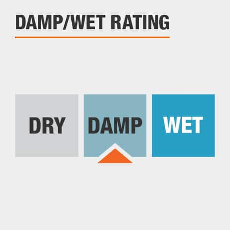 This light is rated for damp conditions.