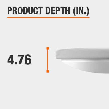 This light fixture has a depth of 4.76 inches.