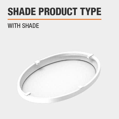 This light includes a shade.