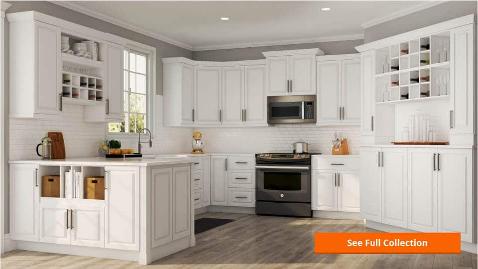 shaker wall kitchen cabinets in java