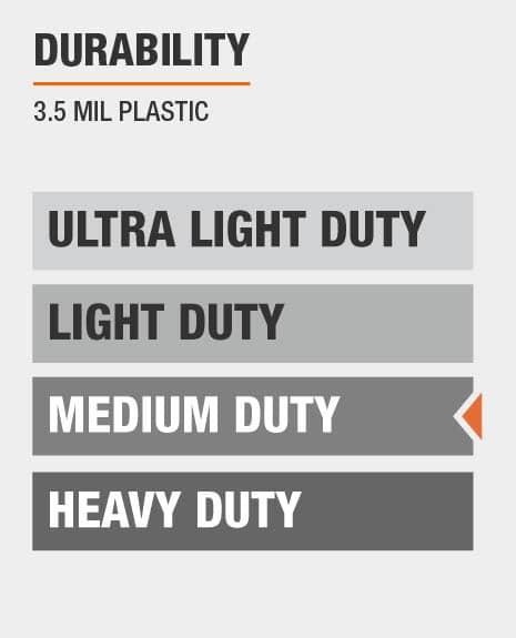 medium duty 3.5 mil plastic sheeting