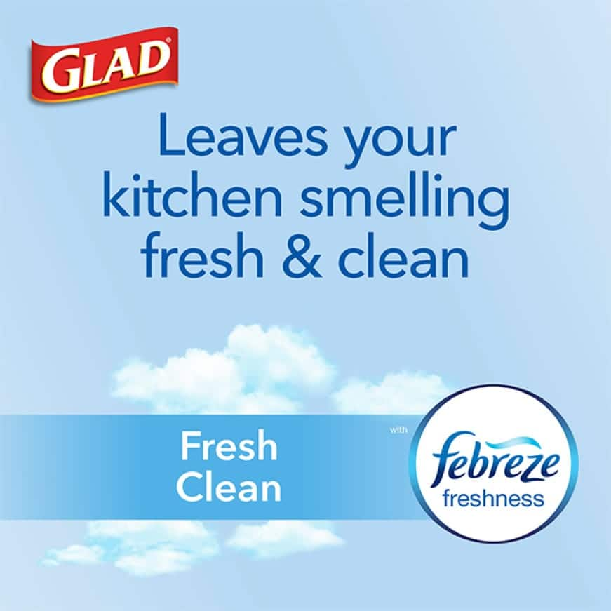 Leaves your kitchen smelling fresh and clean.