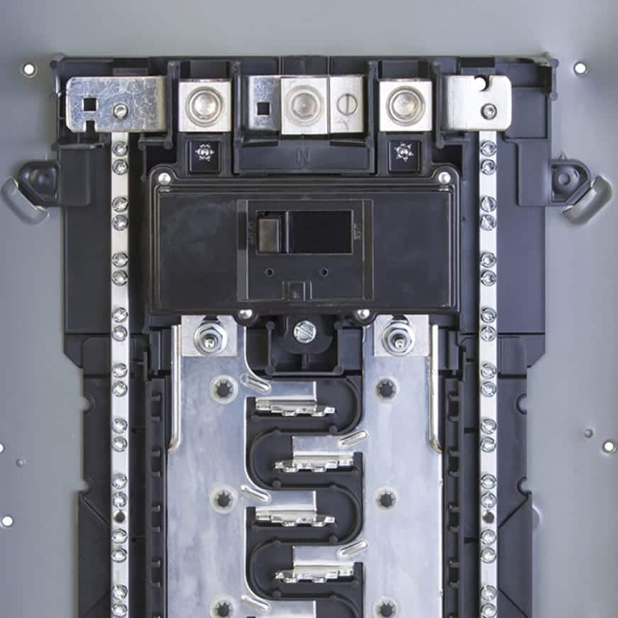 Square D Homeline Main Lug breaker Boxes can be converted to Main Breaker breaker boxes or the other way around.