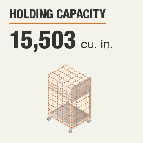 Holding Capacity 15503 Cubic Inches
