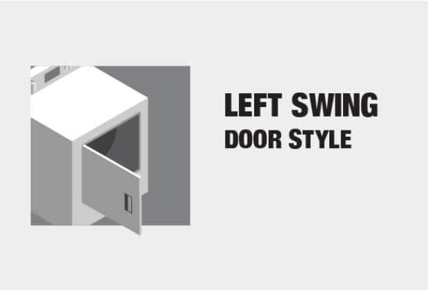 Left Swing Door Style