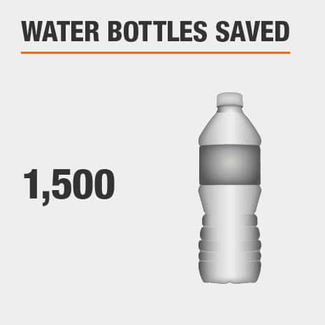 Using an HDX filter will help save 1,500 water bottles