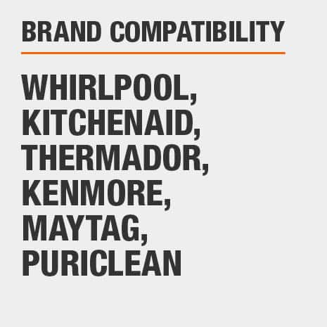 Replacement for select Whirlpool, Kitchenaid, Thermador, Kenmore, Maytag, Puriclean branded refrigerators