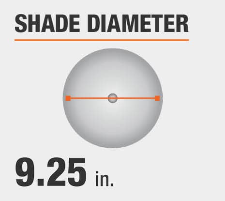 Shade Diameter: 9.25 in.