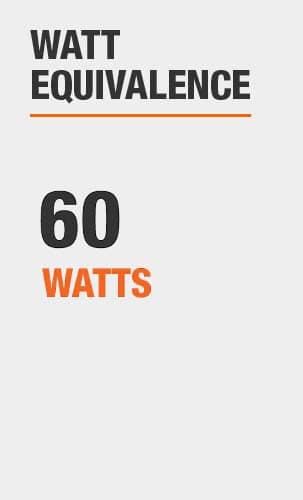 Watt Equivalence: 60 Watts