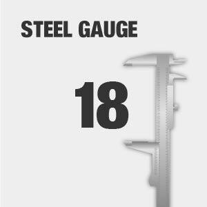 Tool chest steel gauge thickness.