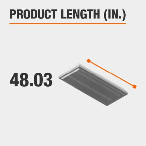 This light fixture has a length of 48.03 inches.